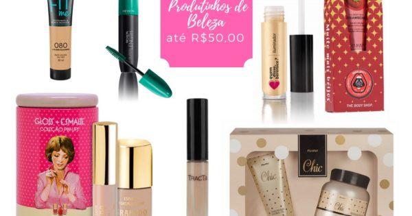 Opções de presente até R$50,00